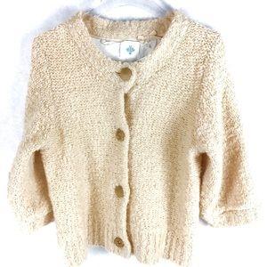 Anthropologie Monogram Bucle Cardigan Sweater NWT